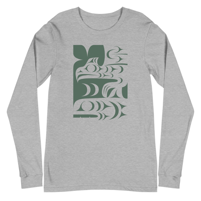 Ch'askin - Classic Unisex Long Sleeve Tee | Salish.Design: Coast Salish Art Clothing