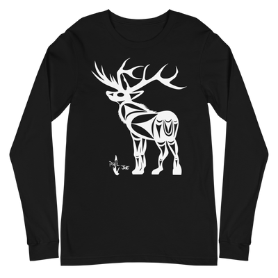 Elk - Unisex Long Sleeve T-Shirt | Salish.Design: Coast Salish Art Clothing