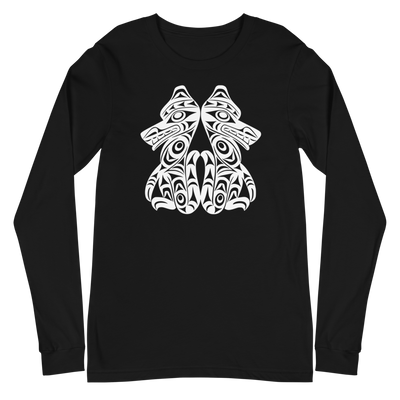Brother Wolves - Classic Unisex Long Sleeve Tee | Salish.Design: Coast Salish Art Clothing