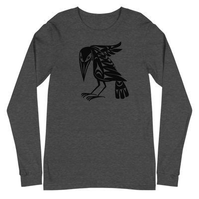 Raven - Classic Unisex Long Sleeve T-Shirt | Salish.Design: Coast Salish Art Clothing