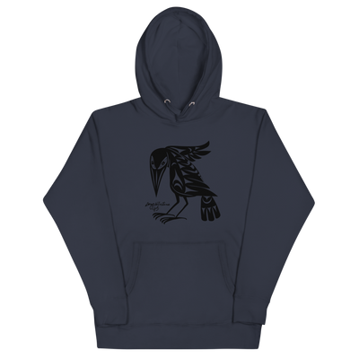 Raven - Premium Unisex Hoodie | Salish.Design: Coast Salish Art Clothing