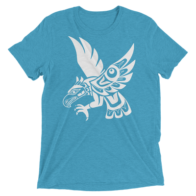 Hawk - Tri-Blend Unisex T-Shirt | Salish.Design: Coast Salish Art Clothing