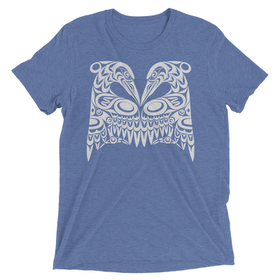 Dual Herons - Tri-Blend Unisex T-Shirt | Salish.Design: Coast Salish Art Clothing