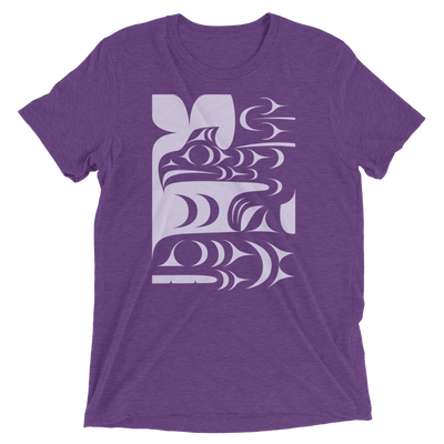 Ch'askin - Tri-Blend Unisex T-Shirt | Salish.Design: Coast Salish Art Clothing
