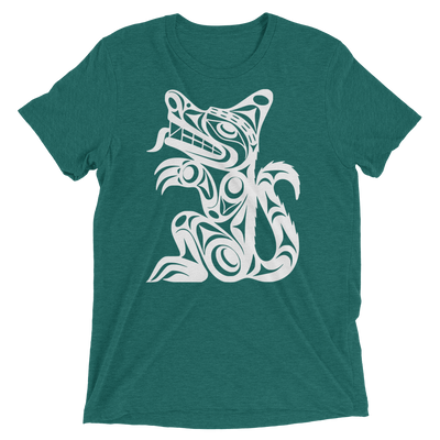 Wolf - Tri-Blend Unisex T-Shirt | Salish.Design: Coast Salish Art Clothing