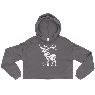 Elk - Cropped Hoodie | Salish.Design: Coast Salish Art Clothing