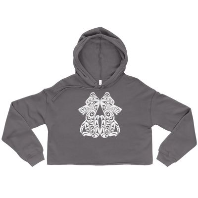 Brother Wolves - Cropped Hoodie | Salish.Design: Coast Salish Art Clothing