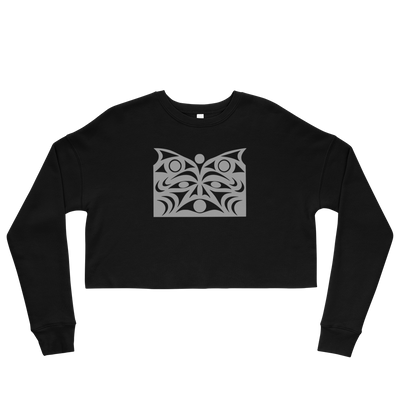 Guardian Spirit Vision - Cropped Sweatshirt | Salish.Design: Coast Salish Art Clothing
