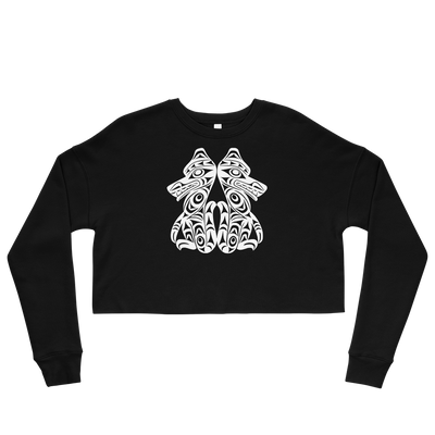Brother Wolves - Cropped Sweatshirt | Salish.Design: Coast Salish Art Clothing