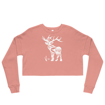 Elk - Cropped Sweatshirt | Salish.Design: Coast Salish Art Clothing