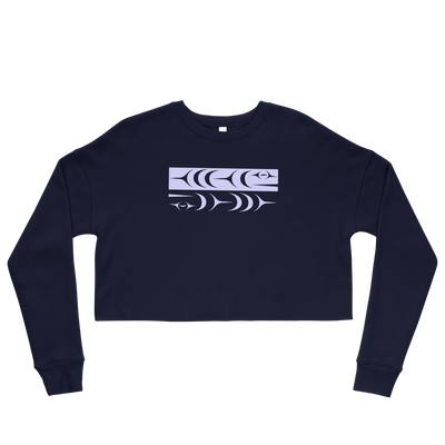 Ch'inkwu - Cropped Sweatshirt | Salish.Design: Coast Salish Art Clothing