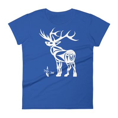Elk - Women's Fashion Fit T-Shirt | Salish.Design: Coast Salish Art Clothing