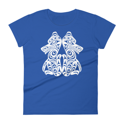 Brother Wolves - Women's Fashion Fit T-Shirt | Salish.Design: Coast Salish Art Clothing
