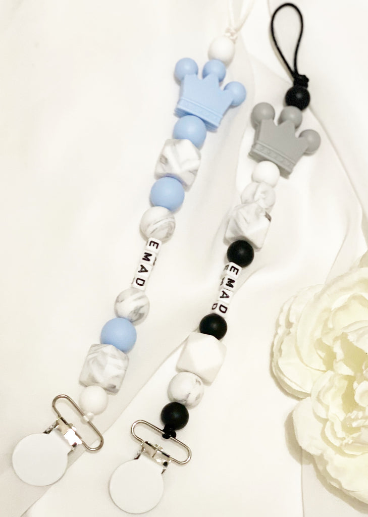 Customized pacifier clip for boy