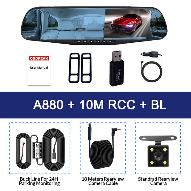 Rear View Mirror Video Recorder