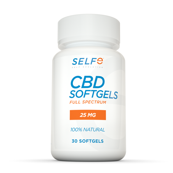 Selfe CBD Softgels - 30 softgels / Full Spectrum / 25 mg
