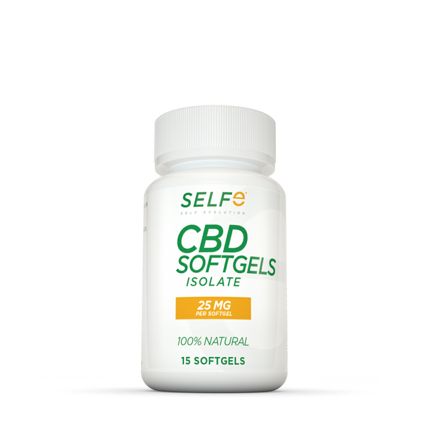 Selfe CBD Softgels - 15 softgels / Isolate / 25 mg