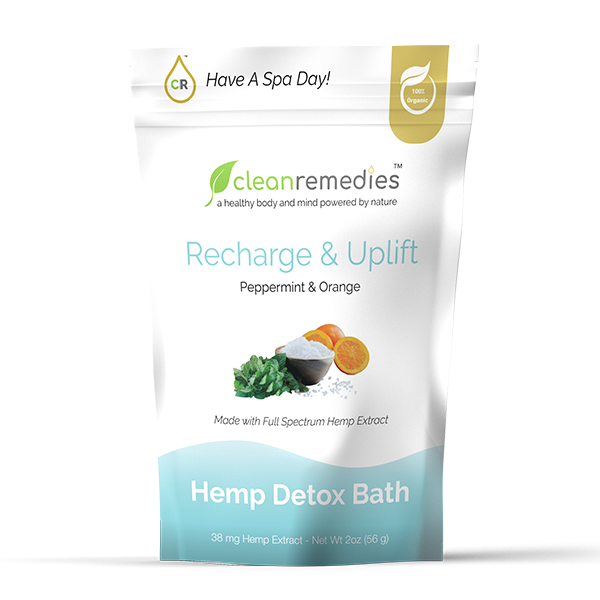 Clean Remedies CBD DETOX BATH SALTS - Recharge & Uplift (Peppermint & Orange)