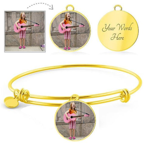 Own Photo Circular Bangle (This item can be engraved)