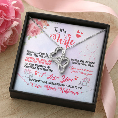 Image of Beautiful Intertwined Hearts Necklace