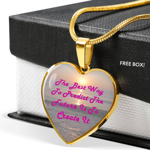 Elegant Glass Coated Heart on a Necklace (This item can be engraved)