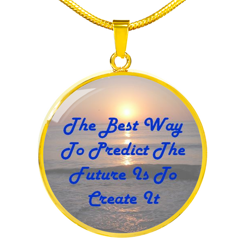 Elegant Glass Coated Pendant on a Necklace (This item can be engraved)
