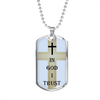 Elegant Glass Coated Dog Tag (This item can be engraved)