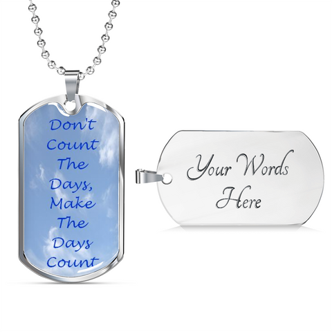 Image of Elegant Glass Coated Dog Tag (This item can be engraved)