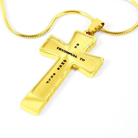 Elegant Glass Coated Cross (This item can be engraved)