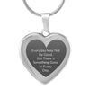 Elegant Laser Engraved Stainless Steel Heart Necklace