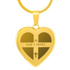 Elegant Laser Engraved Gold Plated Heart Necklace (This item can be engraved)