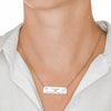 Trendy Laser Engraved Horizontal Wonderful Son Bar Necklace