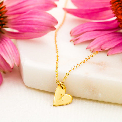 Image of A sweet and dainty heart(s) necklace with chain.