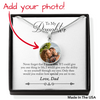 Stunning Glass Coated Photo Pendant on a Necklace with Personal message (This item can be engraved)