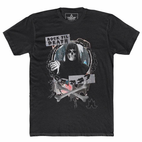 Rock Til' Death Tee - Men's (prints on front and back)
