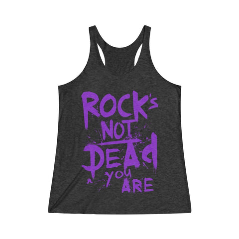Rock's Not Dead Tri-Blend Vintage Black Tank - Women's Size Extra Small