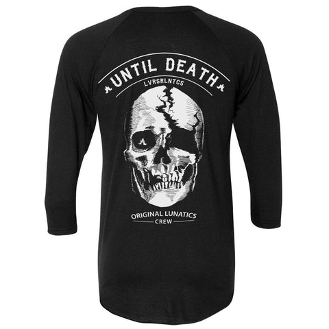 Death Valley Baseball Tee - Black/Black - Unisex Size Extra Small