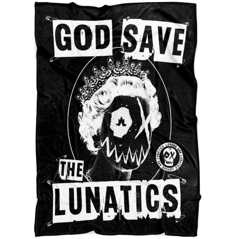 God Save The Lunatics - Fleece Blanket