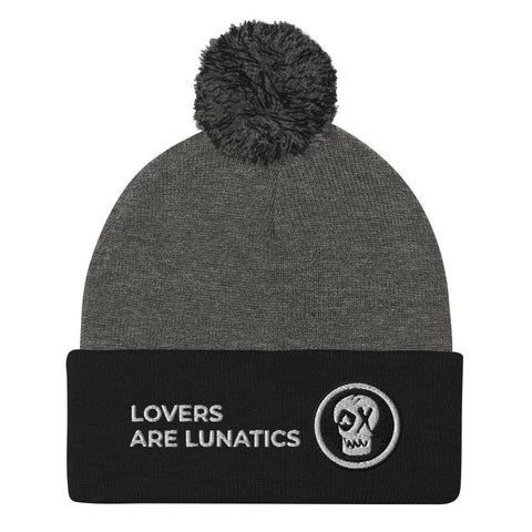 Lovers Are Lunatics - Pom Cuffed Beanie