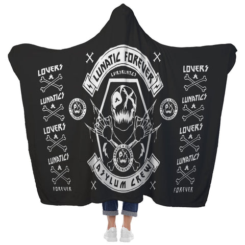 "Reign Of Lunacy - Hooded Fleece Blanket - 80"" x 60"""