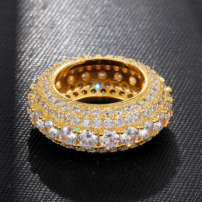 Iced Curve Ring - thecoldflex -GOLD - SILVER