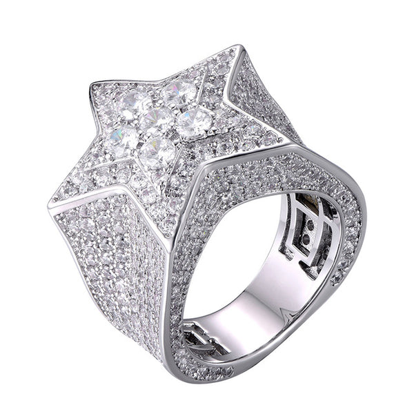 Iced Star Ring - thecoldflex -GOLD - SILVER