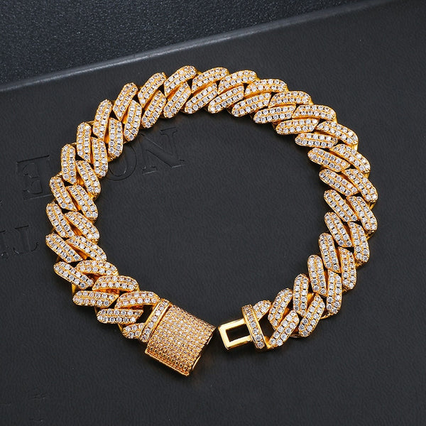 12MM Prong Bracelet - Gold