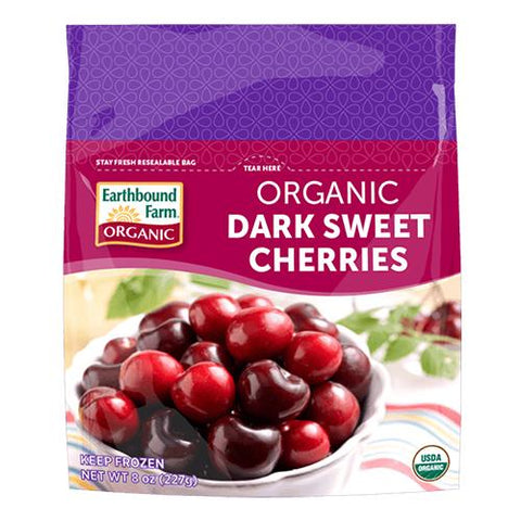 Frozen Dark Sweet Cherries, Earthbound, 300g