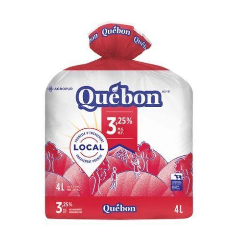 Milk , 3.25% , Quebon 2L