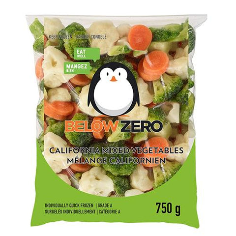 California Mixed Vegetable, Below Zero 750g