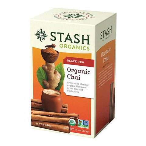 Black tea, Organic Chai, Stash 18 teabags