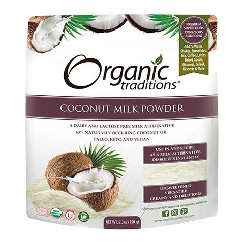 Coconut Milk Powder, Organic, Organic Traditions 150g
