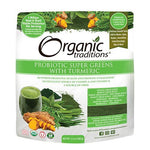 Probiotic Super Greens, with Tumeric, Organic, Organic Traditions 100g
