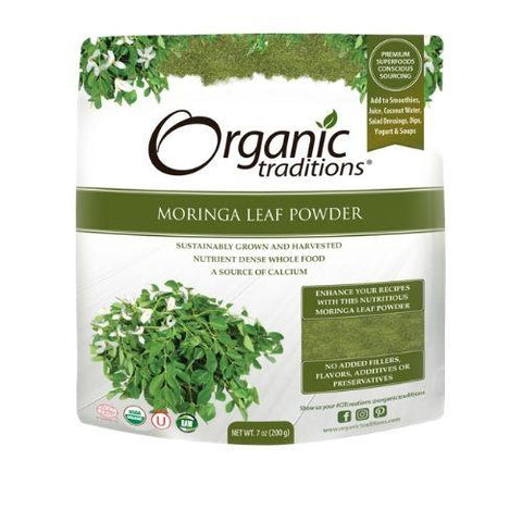 Moringa Leaf Powder, Organic, Organic Traditions 200g